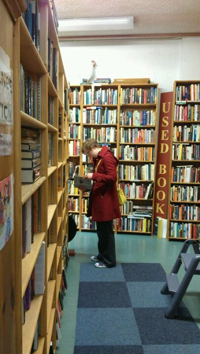 Me at Ophelia's Books, Seattle
