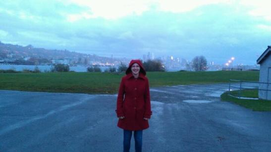 Me at Gasworks Park in Seattle (in the rain!)