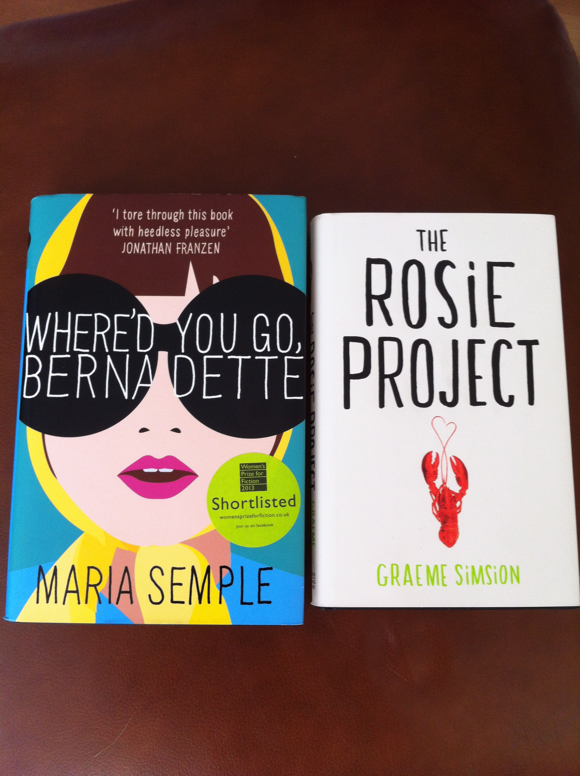 Birthday Reads: Where'd You Go, Bernadette By Maria Semple And The Rosie  Project By Graeme Simsion