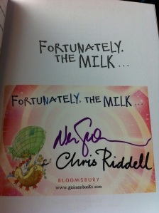 Fortunately, the Milk signed title page